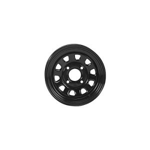 Steel Black Wheel with Machined Finish