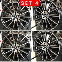 Mercedes Benz AMG S550 Style Staggered Wheels Rims 5 Lug Black