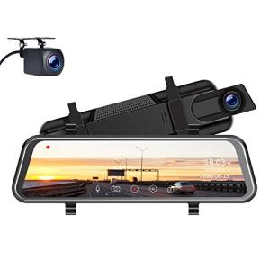 TOGUARD Upgrade 2.5K Mirror Dash Cam for Cars