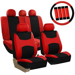 FH Group Red Combo Set with Steering Wheel Cover