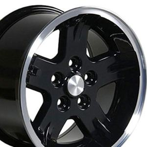 "Wheel 15"" Rim Fits 1987-2006 Jeep Wrangler Machined Lip Black"