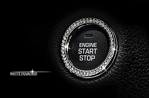 Personality Car Interior Emblem Crystal Ring Sticker