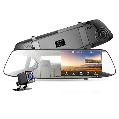 Backup Camera for Cars 4.3 Inch Mirror Dash Cam