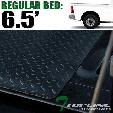 Topline Autopart Black Rubber Diamond Plate Truck Bed