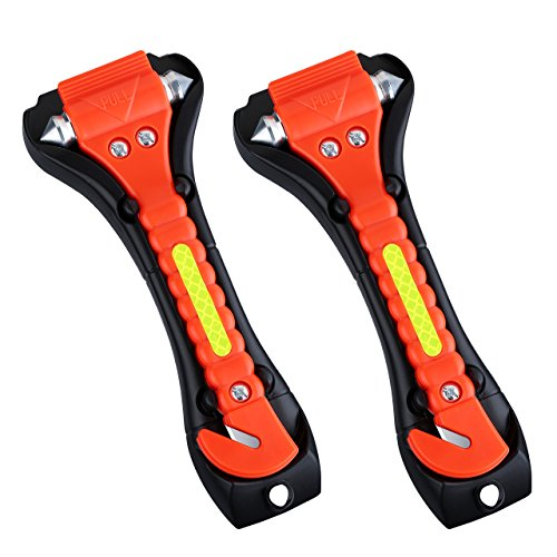 VicTsing 2 Pack Car Safety Hammer, Emergency Escape Tool