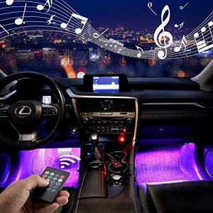 Multicolor Music Car LED Strip Lights Under Dash