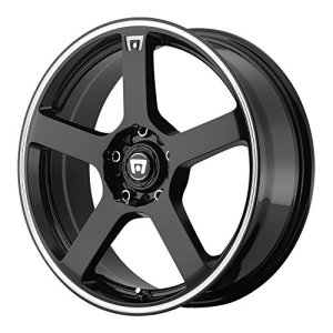 MR116 Gloss Black Wheel With Machined Flange 5x100, 114.3mm, +40mm offset