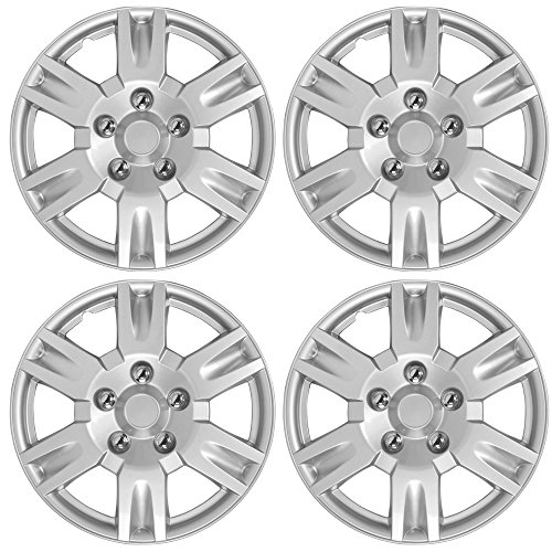 Nissan Altima Silver Hubcaps Wheel Covers Impact Resistant Grade