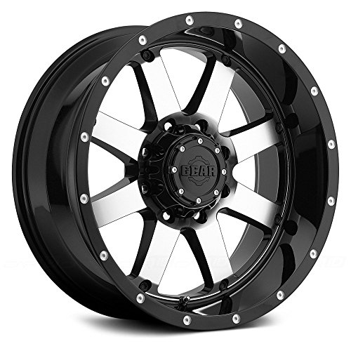 Alloy Big Block Wheel -44mm Offset with Machined Finish