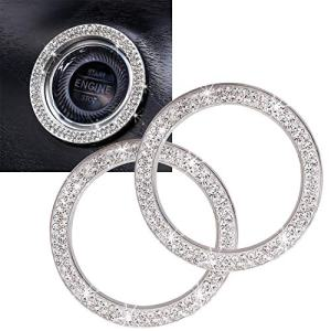 ToBeQueen Car Bling Ring Crystal Car Stickers