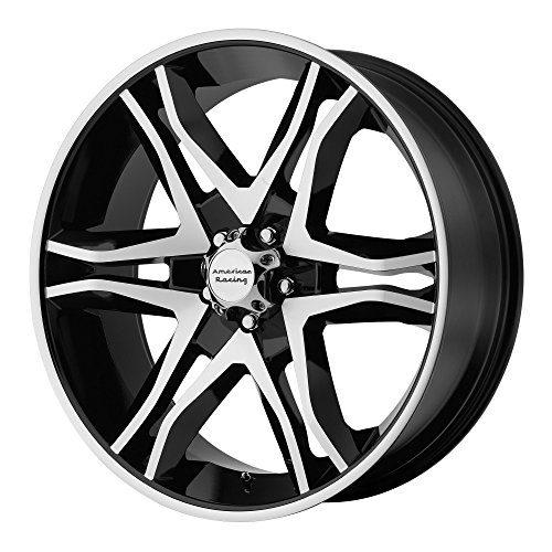 American Racing Black Machined Wheel