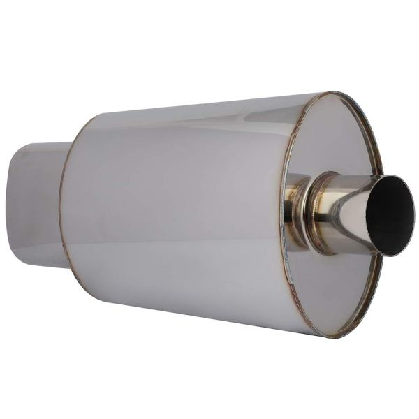 "5.5"" Exhaust Muffler LSAILON Inlet 5.5"" Inch Outlet 21.5"" Overall Length"