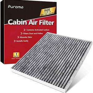 Puroma Cabin Air Filter with Activated Charcoal Layer Replacement