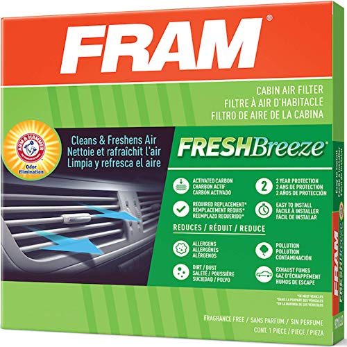 Fresh Breeze Cabin Air Filter with Arm & Hammer Baking Soda