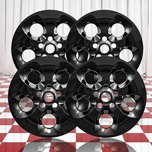 """Jeep Wrangler JK Sahara Gloss Black 5 Spoke 18"""" Wheel Skins for 2013-18"""