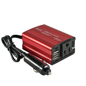 12V DC to 110V AC Converter with 3.1A Dual USB Car Charger