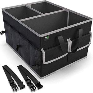 Trunk Organizer for SUV Non Slip Bottom, Securing Straps