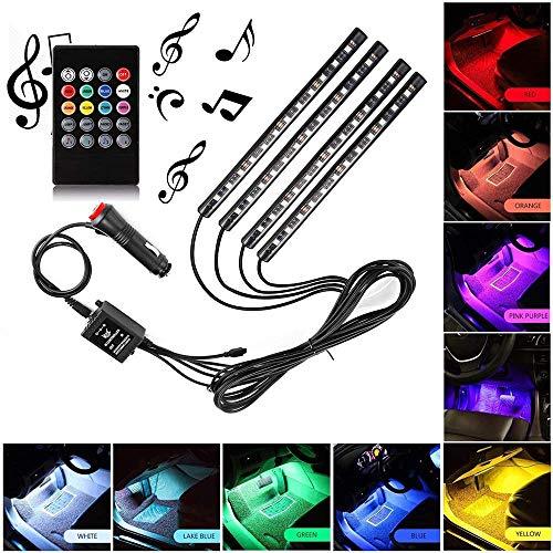 Sanhezhong Car LED Strip Light, 4pcs 48 LED