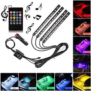 Sanhezhong Car LED Strip Light, 4pcs 48 LED