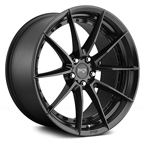 "NICHE 19"" Inch 5x4.5 Wheel Rim M196 19x8.5 +35mm Black"