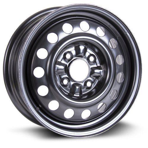 RTX black finish Aftermarket Wheel, 15X6, 4X114.3