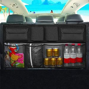 Car Trunk Tidy Storage Bag with Lids Trunk Organizer