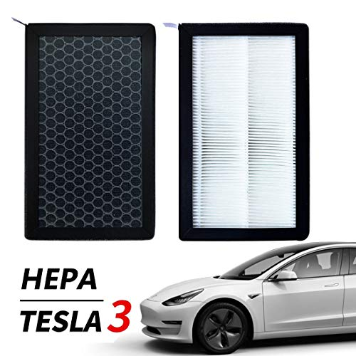 XTechnor Tesla Model 3 Model Y Air Filter HEPA 2 Pack