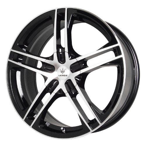 Black Wheel with Machined Lip R18 Custom
