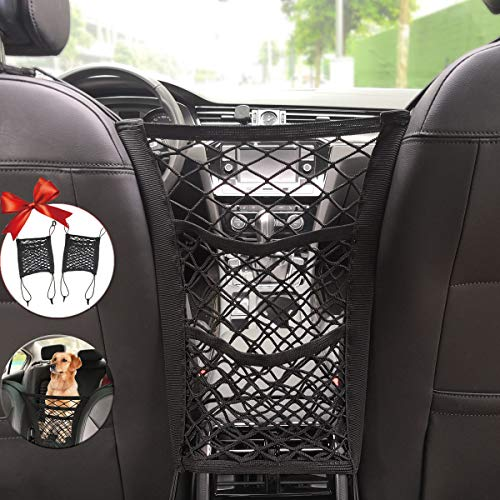 3-Layer Car Storage Organizer Seat Back Net Bag Car Mesh Organizer