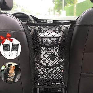 3-Layer Car Storage Organizer Seat Back Net Bag Car Mesh Organizer