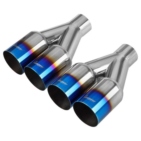 """Pack of 2 Upower Dual 2.5"""" Diesel Exhaust Tip 2.5 Inch"""