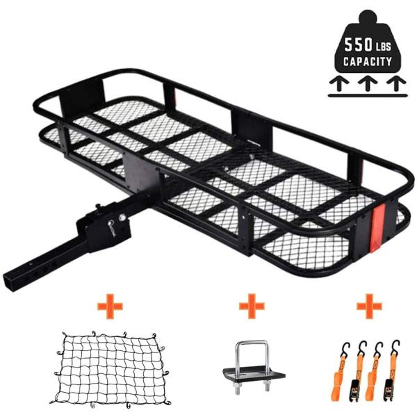Folding Luggage Hitch Rack Basket for Truck Vehicle Car with Net