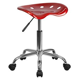 Flash Furniture Vibrant Wine Red Tractor Seat