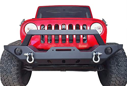 Rock Crawler Full Width Front Bumper with OE Hole