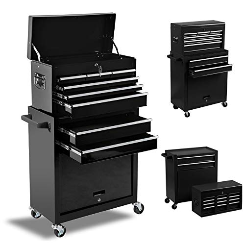 8-Drawer Rolling Tool Chest, High Capacity