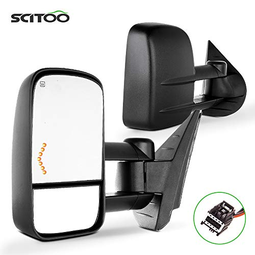 SCITOO Tow Mirrors Compatible with 2007-2014 for Chevy