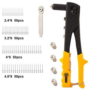 XINQIAO Rivet Gun Kit with 200 Pcs Rivets