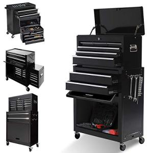 8-Drawer Large capacity Tool chest with 4 Wheels