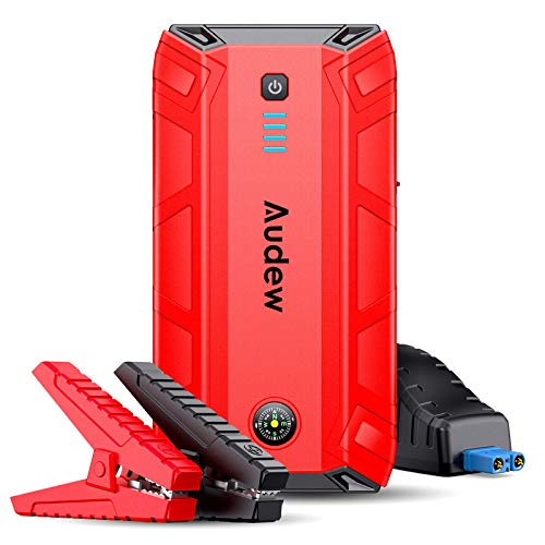 Audew Jump Starter, 12V Auto Battery Booster with Quick Charge