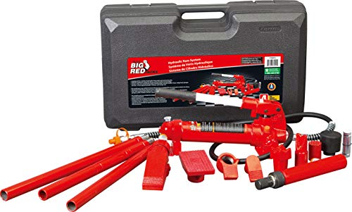 BIG RED Torin Portable Hydraulic Ram: Auto Body Frame Repair Kit