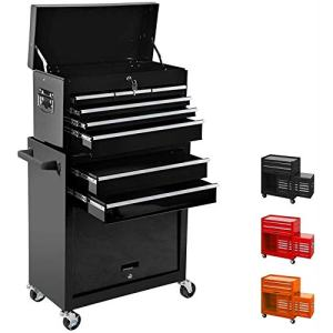 High Capacity 8-Drawer 2in1 Rolling Tool Storage Cabinet