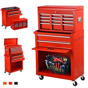 June Win 8-Drawer Rolling Tool Chest,Big Tool Storage Removable