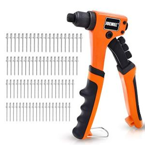 Rivet Gun Kit with 80 Pcs Rivets, JUEMEL Hand Riveter Set