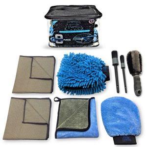 Dual Wash Mitt Premium Microfiber Car Wash Ki