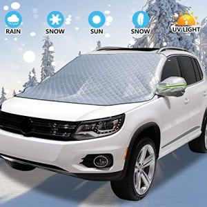 Windshield Snow Cover with Rearview Mirror Cover