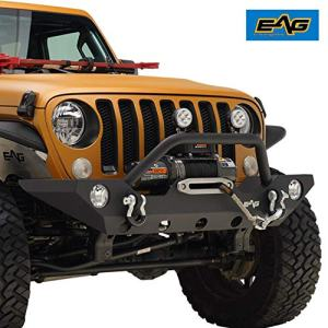 EAG Front Bumper with Fog Light Hole & Winch Plate