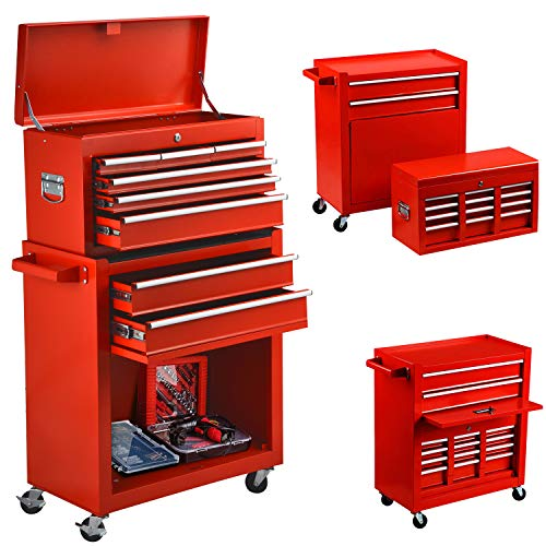 8-Drawer Tool Chest Big Removable Tool Chest Rolling Tool Box