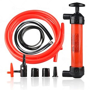 Zone Tech Siphon Fuel Liquid Transfer Pump- Hand Gasoline