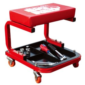 Torin Red Rolling Creeper Garage/Shop Seat