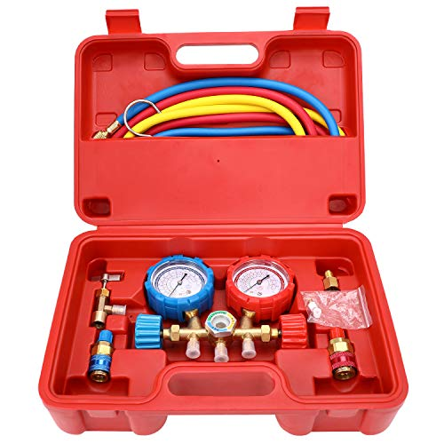 Mofeez Pro AC A/C Diagnostic Manifold Freon Gauge Set
